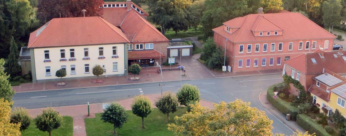 Rathaus und JOZZ Luftaufnahme