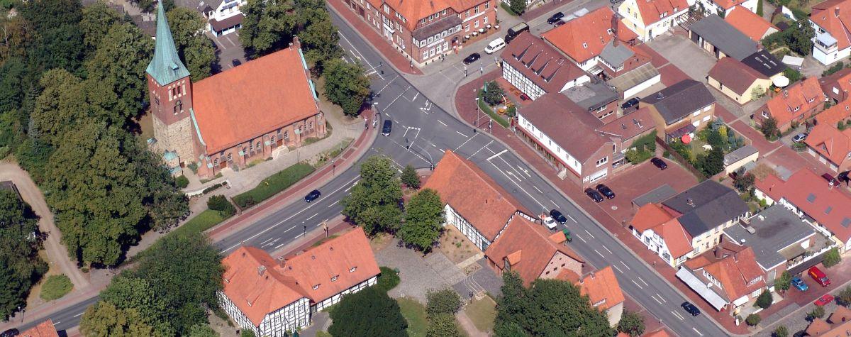 Kirchenkreuzung Luftbild