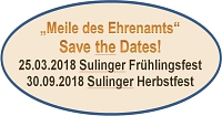 Save the Dates 2018